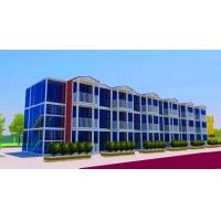 Buy cheap 3 Layers Prefab Commercial Buildings , Flexible Assembly Commercial Steel Building Kits from wholesalers