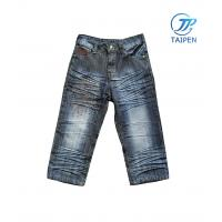 Buy cheap 100% Sturdy Soft / Durable Cotton Denim Toddlers Skinny Jeans Pass SGS Test from wholesalers