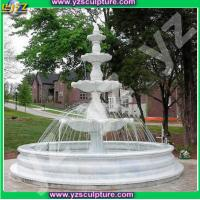 Buy cheap New design white marble outdoor water fountain from wholesalers