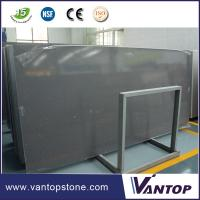 Buy cheap Wholesale Cheap Price Dark Gray Quartz Slab for Bathroom Vanity Top from wholesalers