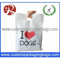 Buy cheap Biodegradable PO Die Cut Handle Plastic Bags For Clothes Shop from wholesalers