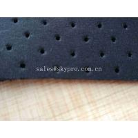 Buy cheap Breathable Black Mesh Neoprene Perforated Rubber Sheet with Spandex Nylon Polyster from wholesalers