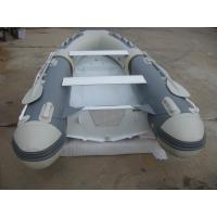 Buy cheap Front Locker Aluminum Rib Boat double layer flat bottom  4 Person Inflatable Boat PVC tube product
