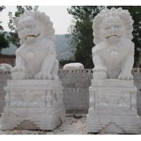 Wholesale Elegant White Marble Carving Stone Lion from china suppliers