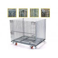 Wholesale High Strength Collapsible Wire Containers Storage Cages For Handling Loading / Unloading from china suppliers