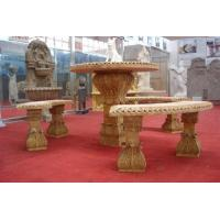 Wholesale garden furniture stone table and chair from china suppliers