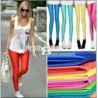 Buy cheap Fashion 80s Shiny Neon Metallic Electric Coloured Women Leggings Candy Color from wholesalers