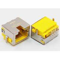 Wholesale Right Angle 8P8C RJ45 Female PCB Connector Tab Up Yellow Housing Sinking from china suppliers