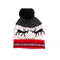 Buy cheap Acrylic Reindeer Pattern Warm Winter Accessories LED Light Knitted Christmas Hat from wholesalers