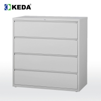 Buy cheap Metal 4 Lockable Drawer H52'' Lateral File Storage Cabinet from wholesalers