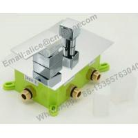 Buy cheap concealedsquare brass showerfaucet,Bathroom best price concealed bath shower mixer tap with diverter from wholesalers