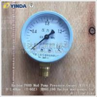 Wholesale Pump Discharge Mud Pump Pressure Gauge M14×1.5 0-1.6Mpa Y-60Z HH60.190 Haihua F600 from china suppliers