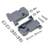 Wholesale Grey PCB Plastic Hood Cover For DB SUB Connector 25P / 37P With Screws from china suppliers