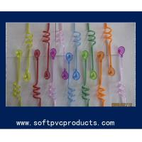 China Food Grade PVC Plastic Drinking Straw Holder / Curly Straw / Cocktail Straws for Bar on sale