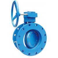 China Ductile Iron Flange Butterfly Valve With Gear Box Operator  Eccentric Type on sale