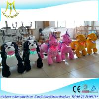 China Hansel high quality coin operated plush electric riding toy animal on sale