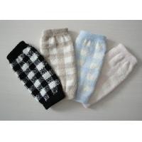 Buy cheap Warm Argyle Long Knitted Arm Warmer Fingerless Gloves With Hand Link For Girls from wholesalers