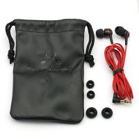 Buy cheap Black PU Earphone Carrying Case With Drawstring Soft For MP4 / MP3 from wholesalers