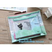 Buy cheap pp file folder plastic pockets document bag, A4 mesh folder zipper pocket document bag, Document Bag with Zipper Storage from wholesalers