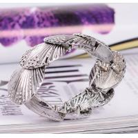 Buy cheap Vintage alloy bracelet girls fashion shell stretch bracelet with crystal inlay from wholesalers