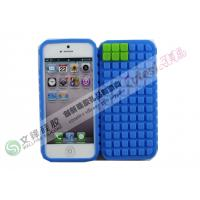 Wholesale Water-proof Lego Blocks Design iPhone 5 silicone Cases in Square Dot from china suppliers