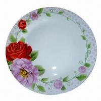 China Ceramic Decal Plate with High-temperature Resistance, Ideal for Hotels/Restaurant/Fine Dining/Home on sale