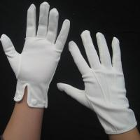 Buy cheap 100% cotton white gloves parade gloves  high quality cotton fabric from wholesalers
