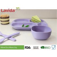 Buy cheap BPA Free Biodegradable Bamboo Dinnerware Set Square Customized Color / Pattern For Home School from wholesalers