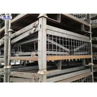 Wholesale Heavy Duty Pallet Storage Cage Folding Galvanized Metallic Box 1200*1000*890mm from china suppliers