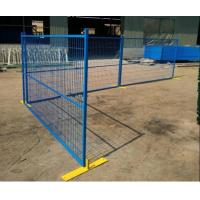Buy cheap Canada Welded Temp Fence with Solid Anchorage Powder Coated Panels for Construction Sites from wholesalers