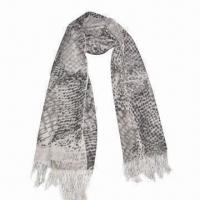 Buy cheap Cashmere-like Scarf, Customized Specifications are Accepted, Measuring 67x178 + from wholesalers