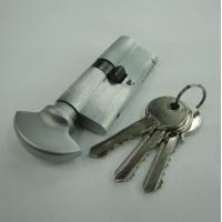 Wholesale 70mm Euro Profile Single Brass Cylinder with 3 brass normal keys from china suppliers