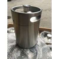 Buy cheap 5L mini beer keg /beer growler made of stainless steel, with screw cap on top, from wholesalers