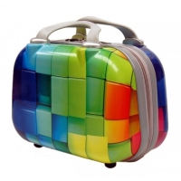 Wholesale Colorful 210D Polyester PC Travel Cosmetic Suitcase from china suppliers