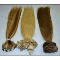 Buy cheap OEM Straight Human Real Hair Clip In Hair Extensions for Female 613 color in stock from wholesalers