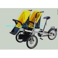 Wholesale Yellow Plastic Baby Stroller Folding Bike With Twin Baby Seat from china suppliers