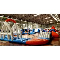 Buy cheap Waterproof Inflatable Water Park / Aquatic Park Playground With Trampoline For Rent from wholesalers