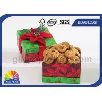 China Cookie / Chocolate Food Packaging Box , Customized Gift Wrapping Boxes with Art Paper on sale