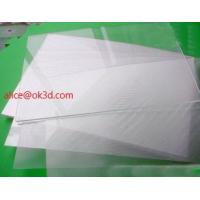 Buy cheap The most thinnest PET lenticular sheet len 51x71cm, 0.35mm 3D Lenticular  film materials for UV offset print from wholesalers