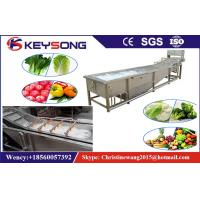 Rooted Plant Food Processing Machinery , Automatic Air Bubble Washing Machine Manufactures