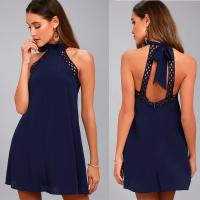 Buy cheap sexy backless halter lady dress from wholesalers