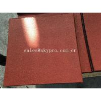 Buy cheap Square bi-color laminated rubber pavers crumb flooring for playground from wholesalers