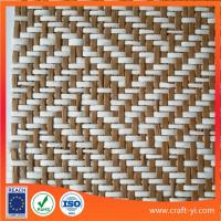 Buy cheap Paper krapt Warp Knit Mesh Fabrics natural straw fabric textile environmental from wholesalers