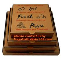 Buy cheap Cheap Custom offset printing corrugated pizza box, micro-flute die cut corrugated pizza boxes, kraft paper pizza box, cu from wholesalers