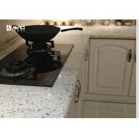 Wholesale Full Bullnose Edge Quartz Kitchen Countertops With Hard Sparkle Surface Polished from china suppliers