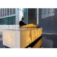 Wholesale Translucent Onyx Reception Desk,Natural Marble Products from china suppliers