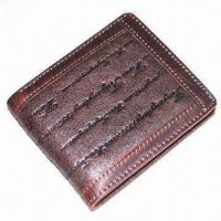 Wholesale Men's Leather Wallet, Made of Genuine Cow Leather, Practical Inner Construction from china suppliers