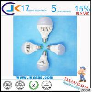 LED Bulb Manufacturing Plant LED Parts 270 Degree Lighting 3w 5w 7w 9w B22 E27 LED Light Bulb Housing Manufactures