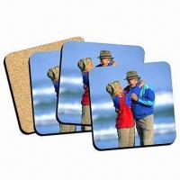Wholesale Cork Back Coasters, Ideal for Promotional Gifts, Measures 10 x 10cm from china suppliers