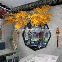 Wholesale Yellow Leaves Artificial Evergreen Trees Indoor Decoration 5 Years Life Time from china suppliers